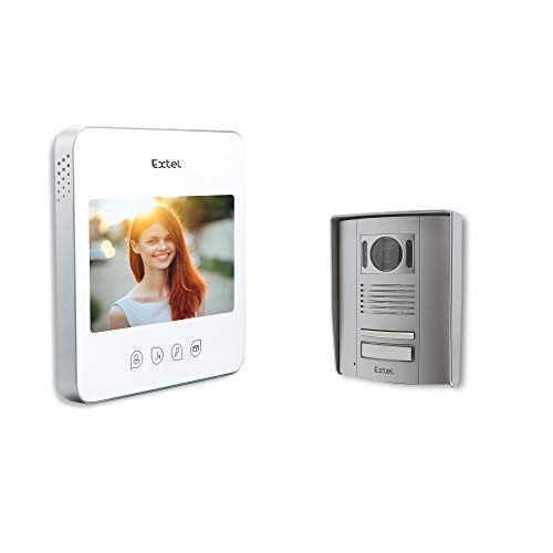 Extel 720294 VideoporteroQuattro, 1W, Blanco