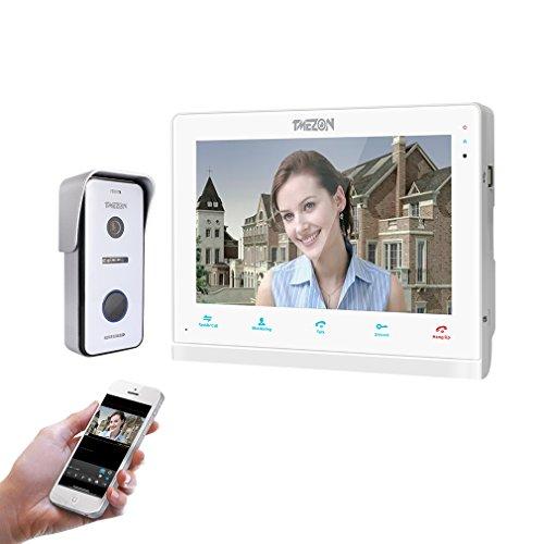 TMEZON 10 Pulgadas de Pantalla táctil inalámbrica/WiFi IP Inteligente Video...