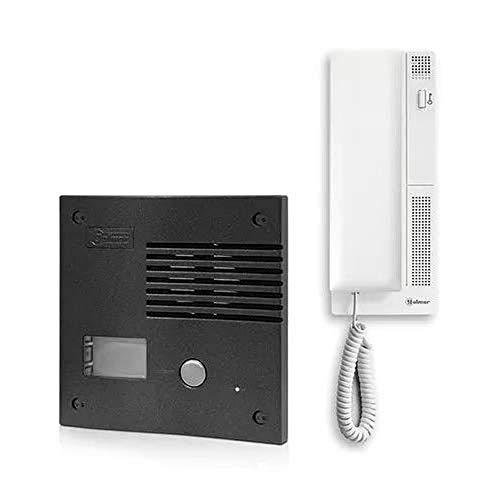 Kit de teléfono de la puerta de audio Golmar K-201 GRF, carcasa de grafito