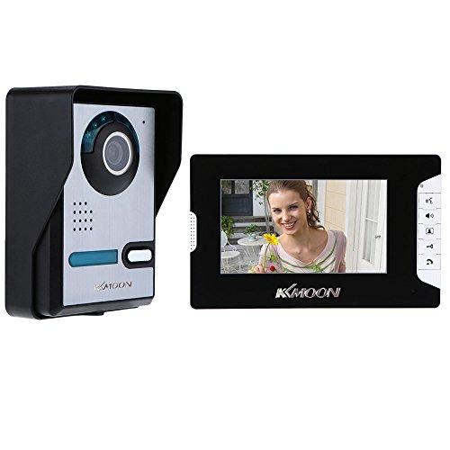 KKmoon 7 Pulgadas Videoportero Cableado, Pantalla Táctil TFT LCD a Color, 16...