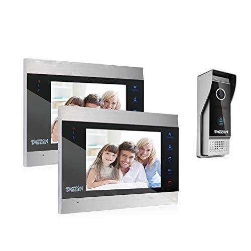 TMEZON Sistema de intercomunicación con Timbre para videoportero, 1080P Sistema...