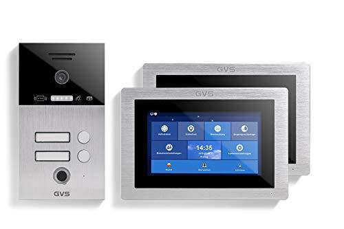 GVS AVS5106U - Videoportero IP (IP 65, RFID, pantalla de 2 x 7 pulgadas,...