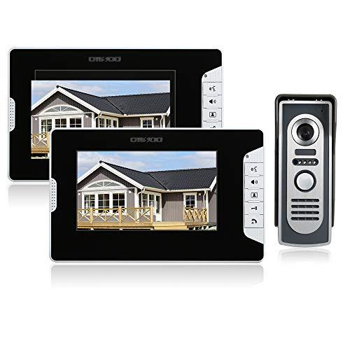 OWSOO 7 Pulgadas Videoportero, Intercomunicador Timbre, 2 Monitor Interior + 1...