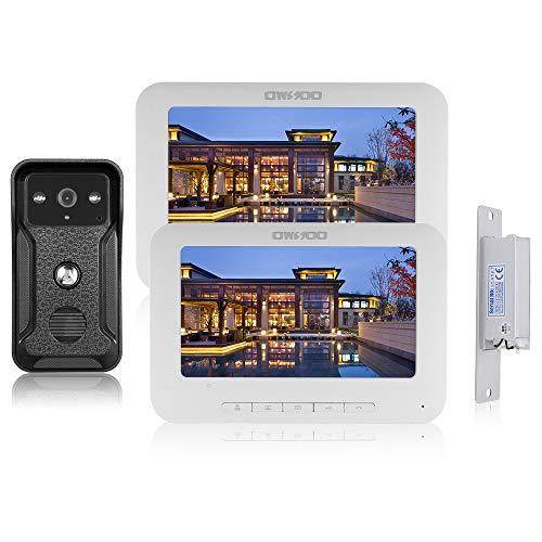 OWSOO 7 Pulgadas Videoportero, 2 Monitor Interior + 1 Cámara Exterior +...
